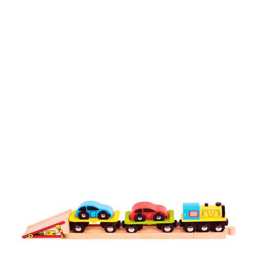 Big Jigs houten autotransporttrein kopen