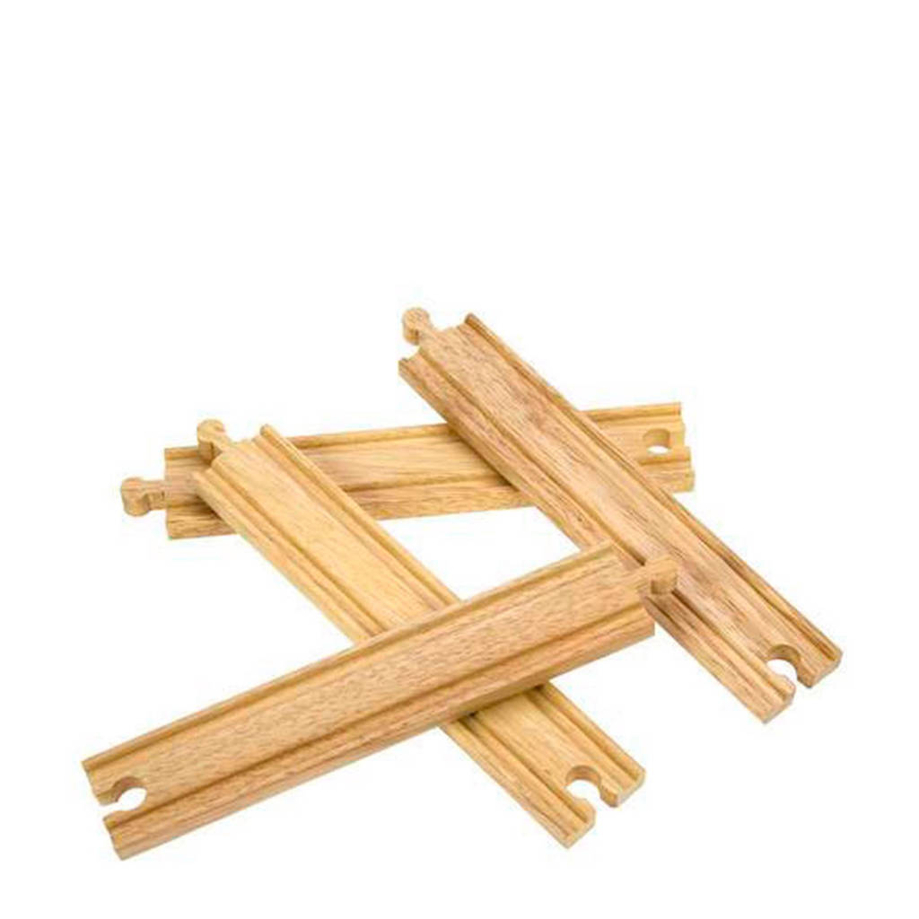 Big Jigs houten 4 stuks rails recht lang