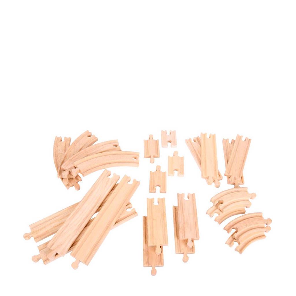 Big Jigs houten uitbreidingsset rails en bochten