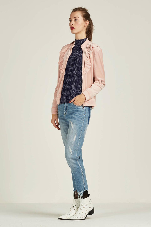 JACQUELINE DE YONG cropped straight fit jeans (dames), Lichtblauw