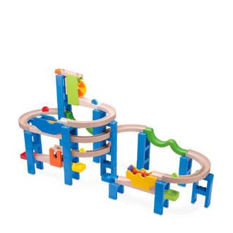 houten spiral coaster knikkerbaan