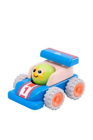 houten smiley racewagen