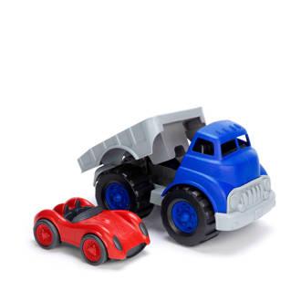 vrachtwagen met raceauto