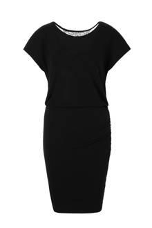 jurk met kanten rugdecolleté