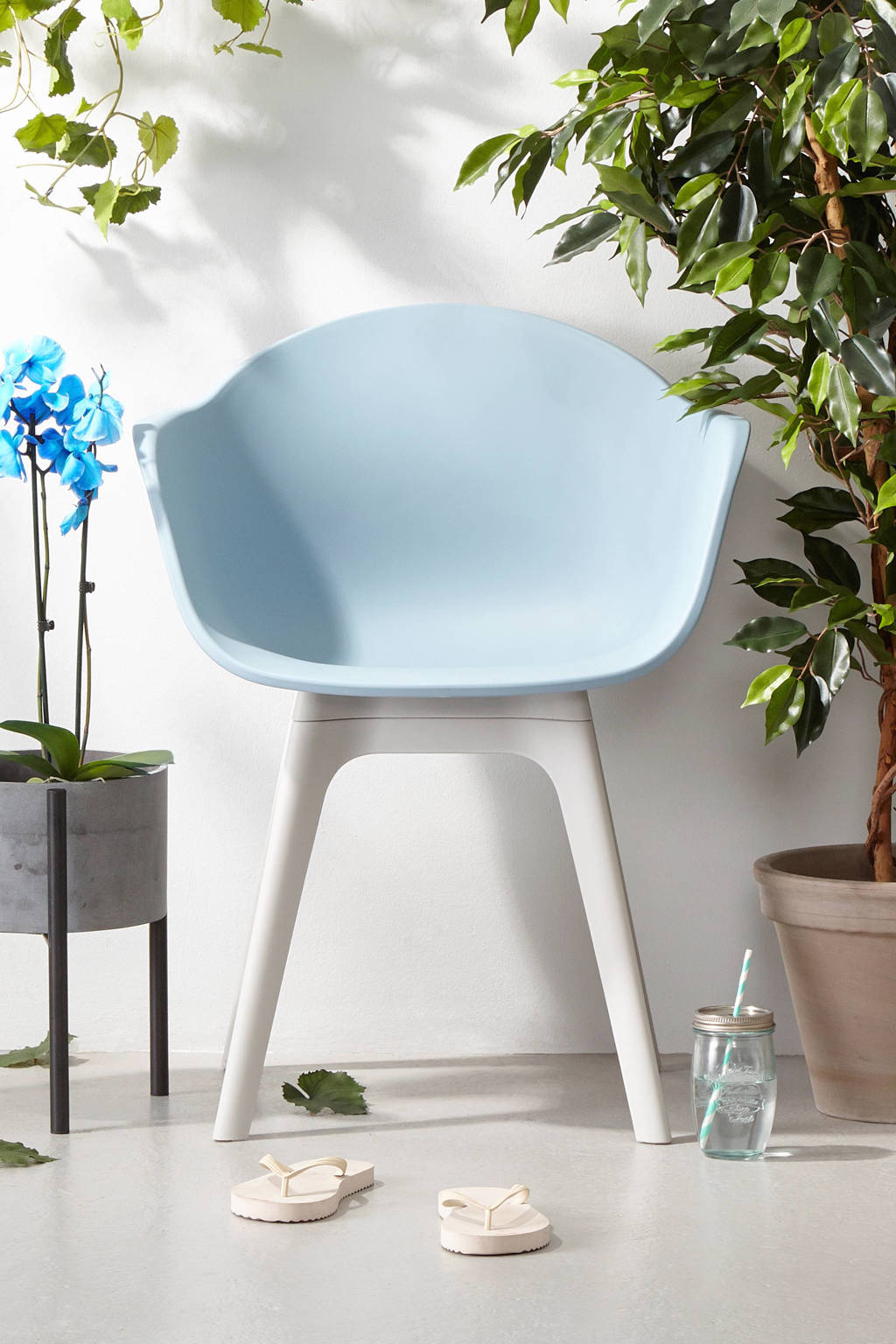 whkmp's own kuipstoel Sado, Blauw/grijs