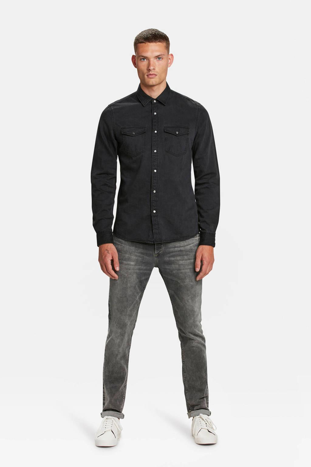 WE Fashion Blue Ridge slim fit jeans, Grijs