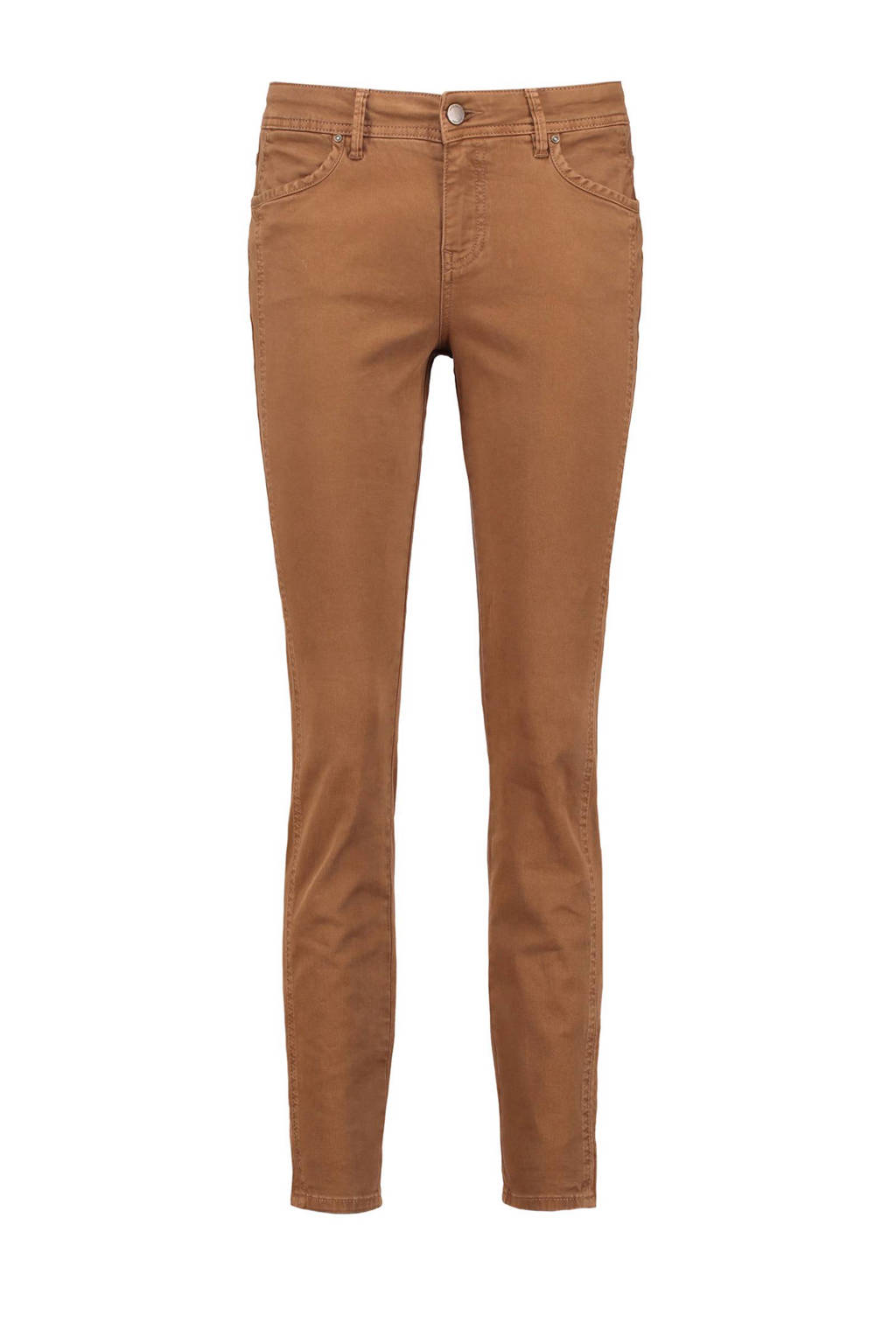 Claudia Sträter slim fit broek, Camel