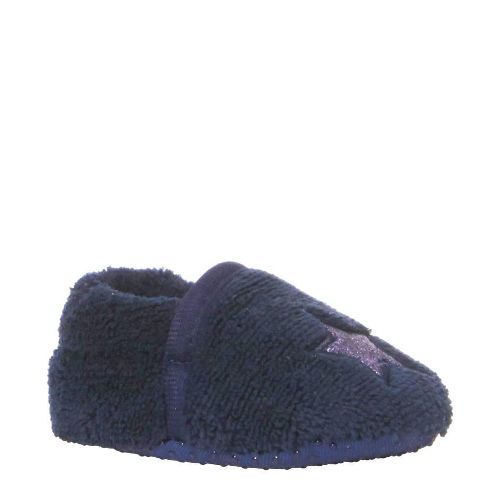 Apollo pantoffels jongens, Donkerblauw