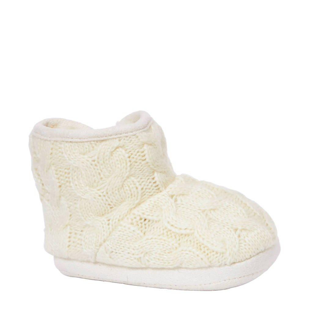 Apollo pantoffels kids, Wit/grijs