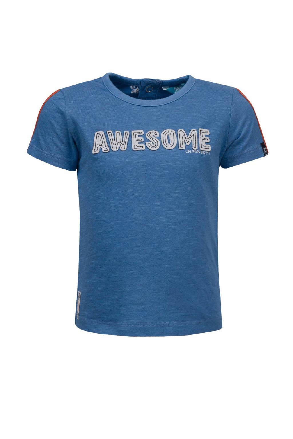 lief! T-shirt met tekst, Blauw