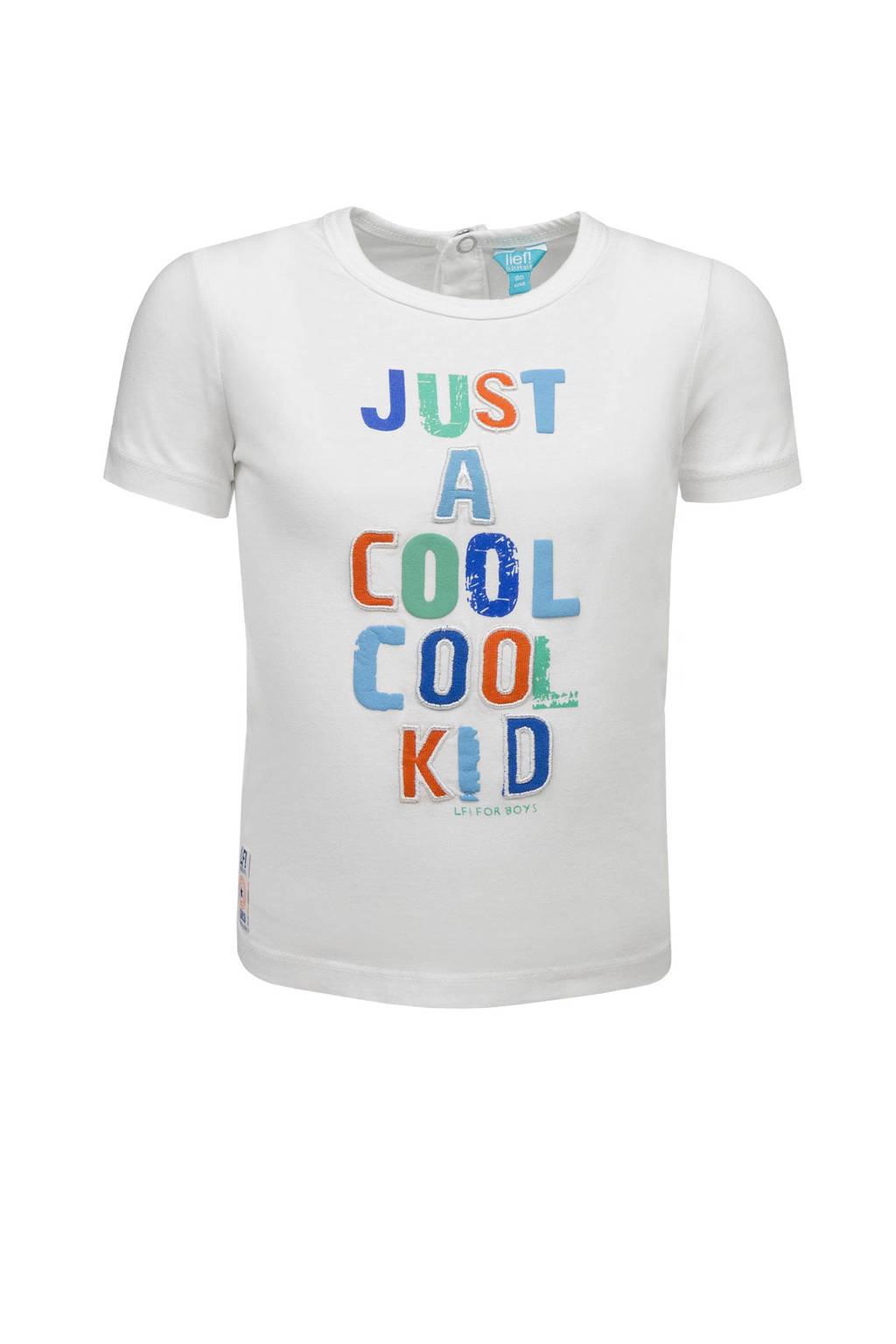 lief! T-shirt met tekst wit, Wit