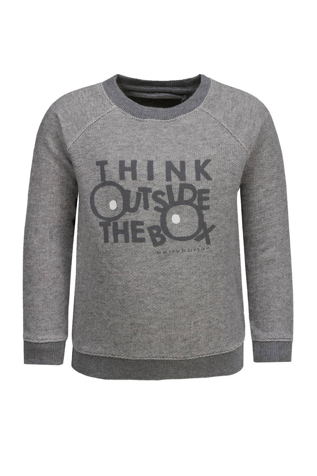 bellybutton sweater, Grijs melange/antraciet/wit