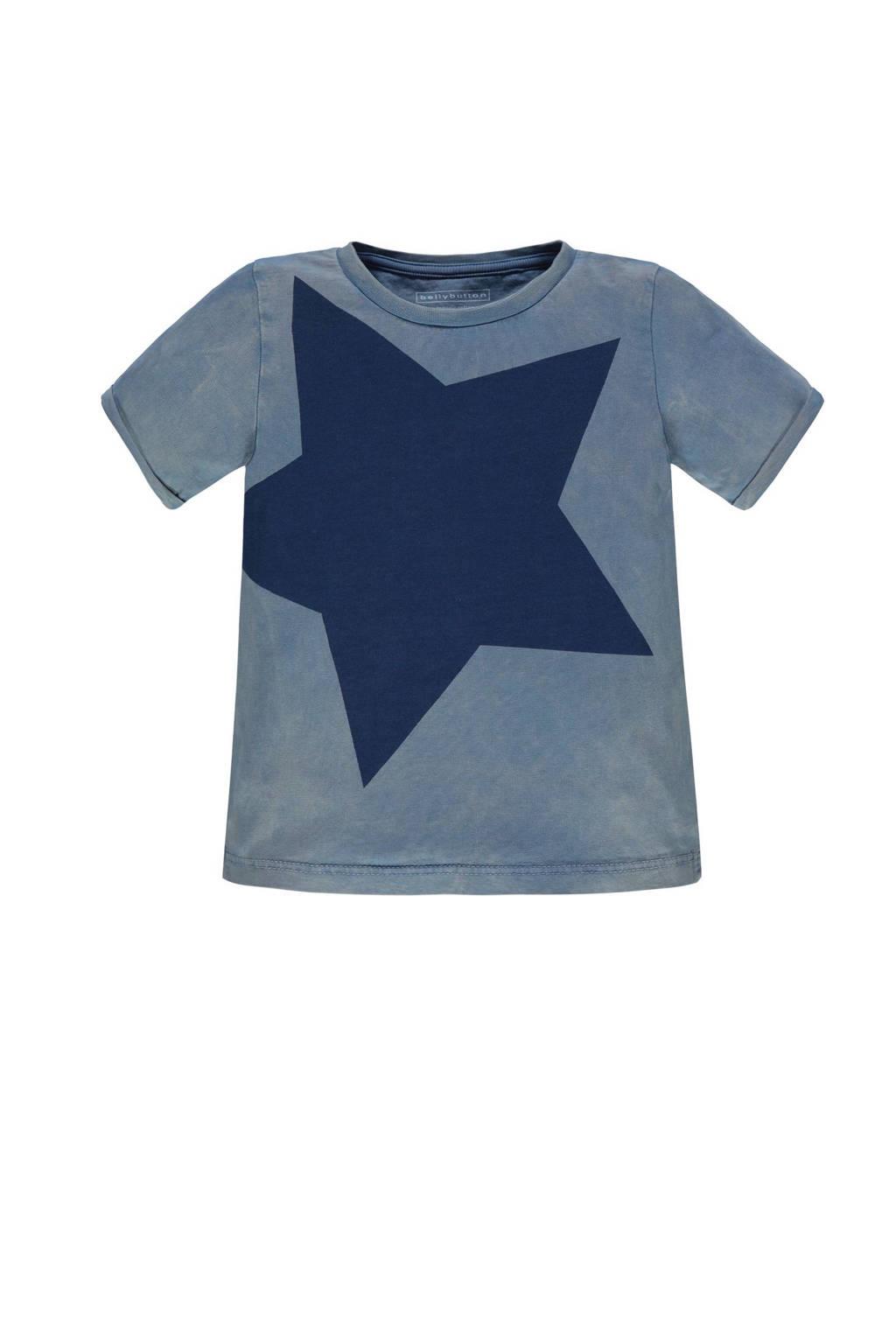 bellybutton T-shirt met ster, Blauw