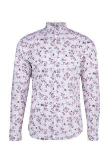 slim fit overhemd met all-over print roze