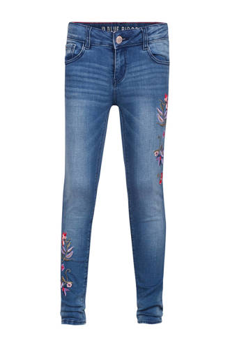 Blue Ridge skinny fit jeans met borduursels