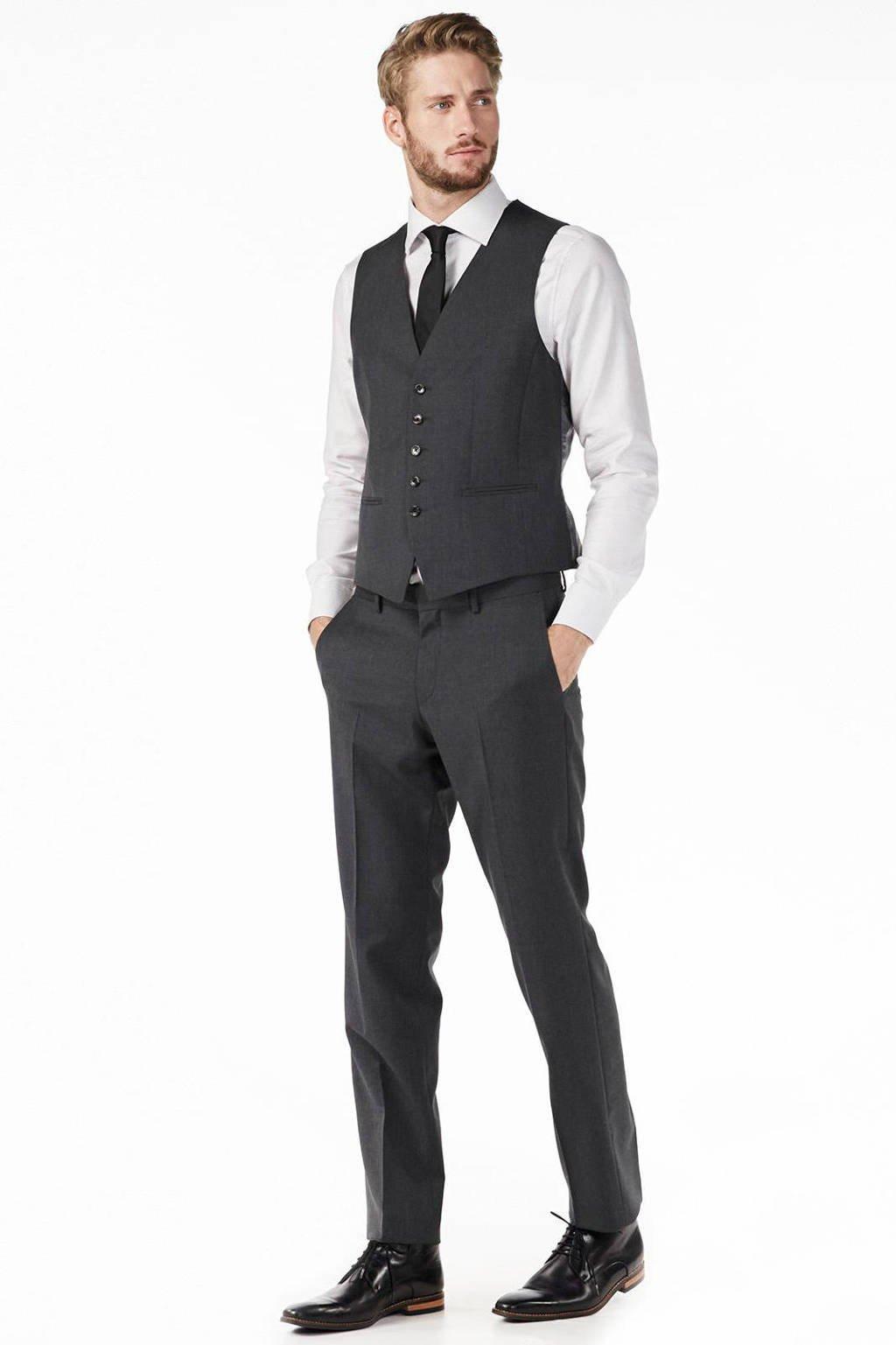 Tommy Hilfiger Tailored slim fit gilet, Donkergrijs