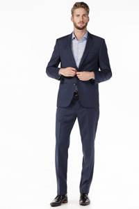 Tommy Hilfiger Tailored fitted wollen colbert, Donkerblauw