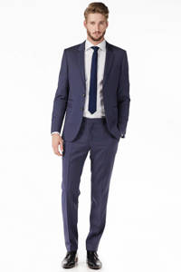 Tommy Hilfiger Tailored wollen pantalon, Donkerblauw