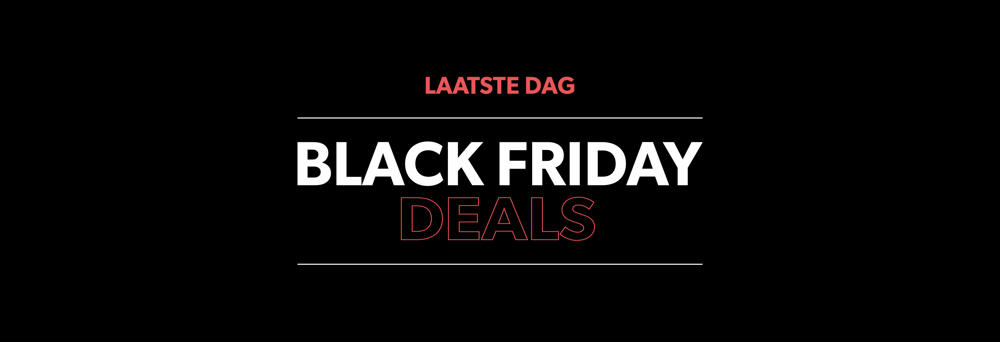 onze Black Friday is afgelopen