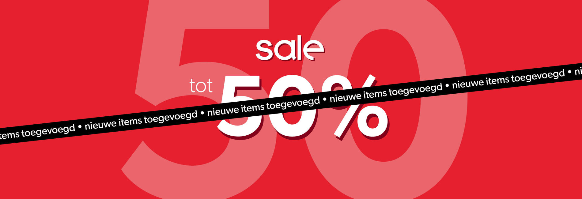 SALE tot 50% new lines added