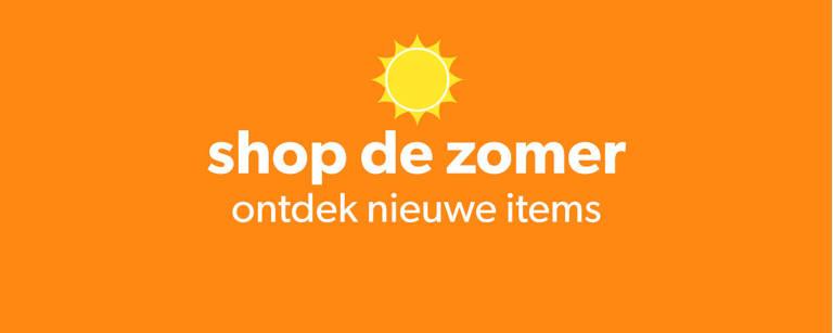 Zomershop Top Teaser banner ontdek nieuwe items