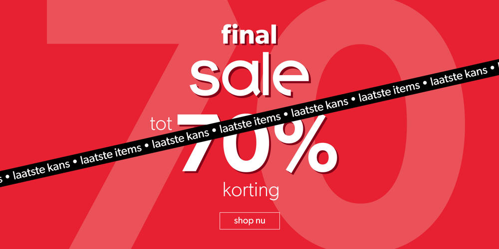 SALE shop tot 70% korting