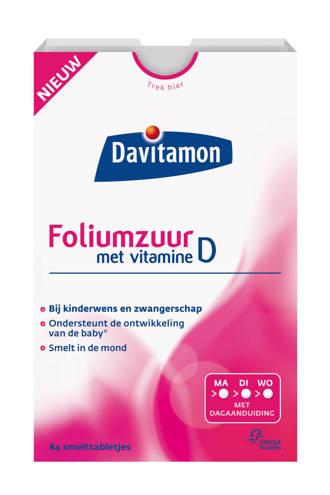 Foliumzuur + Vitamine D smelttablet - 84 tabletten