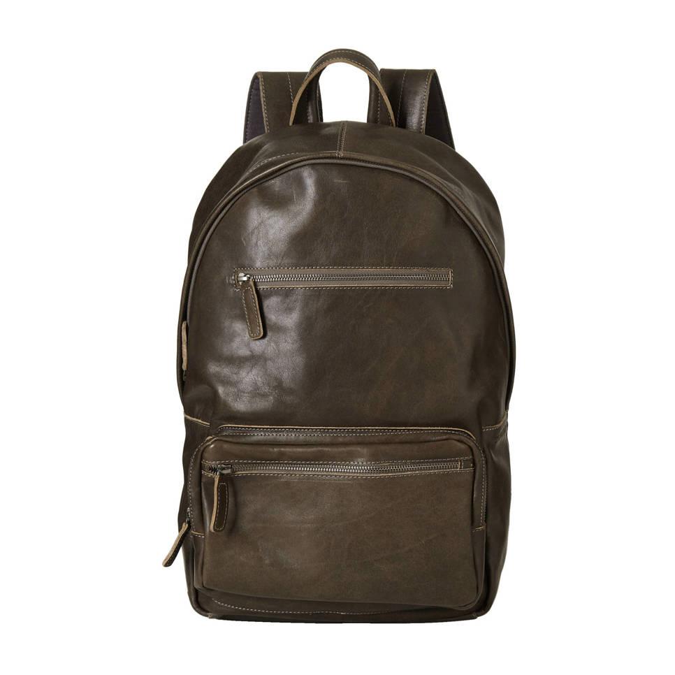 Cowboysbag 15,6 inch leren rugzak Healy, 120 Smoke