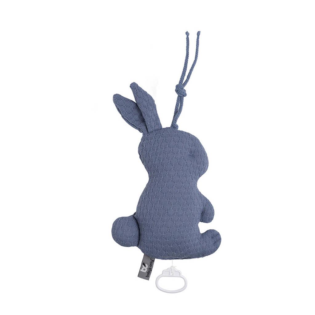 Baby's Only Cloud muziekdoosje konijn indigo, Indigo