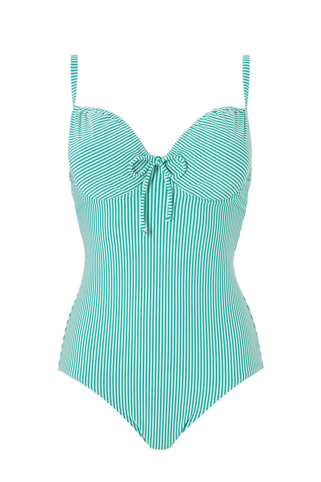 d31e6d14892854 whkmp's beachwave corrigerend badpak, Groen/wit