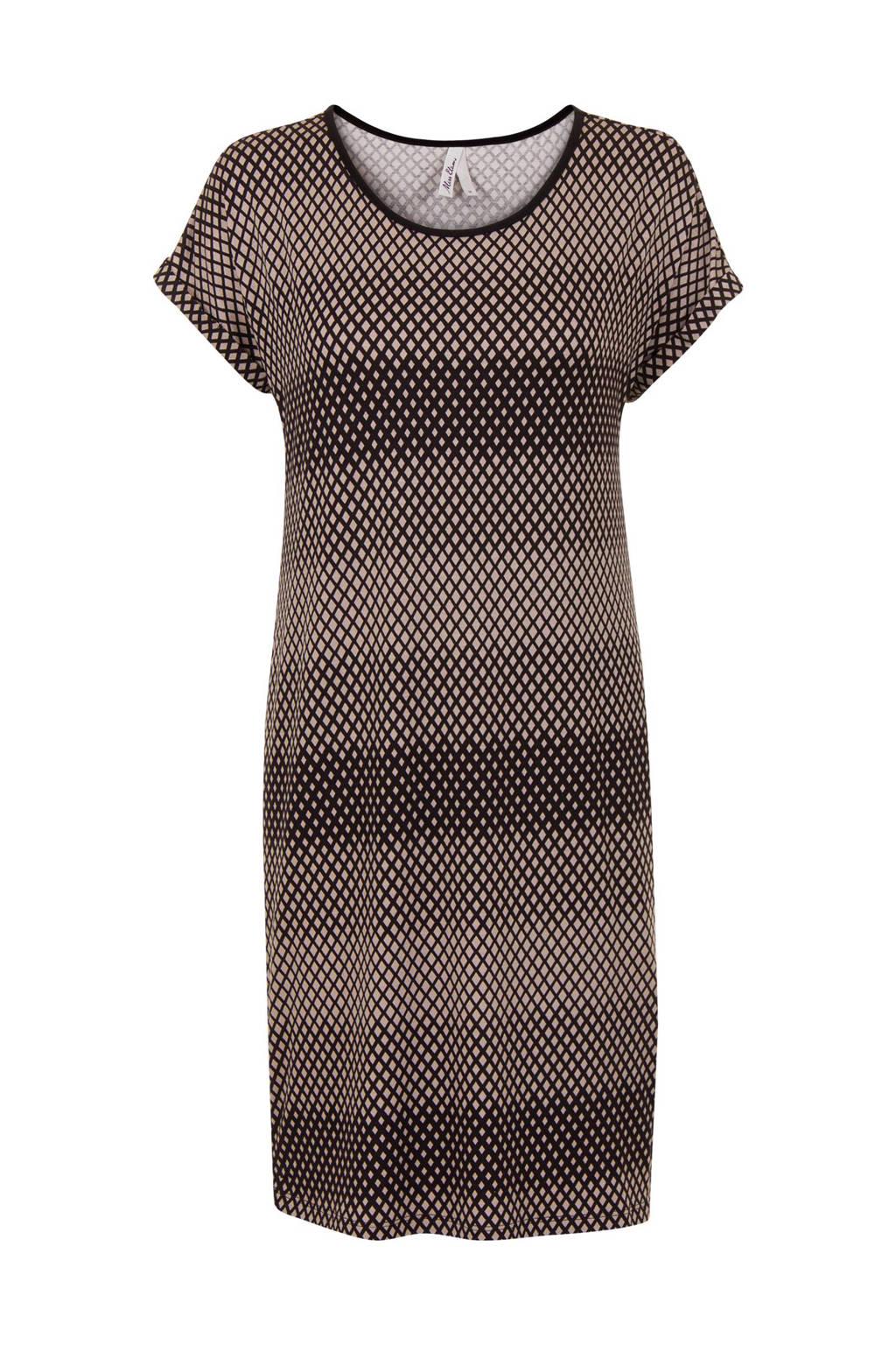 Miss Etam Lang jurk, Zwart/beige