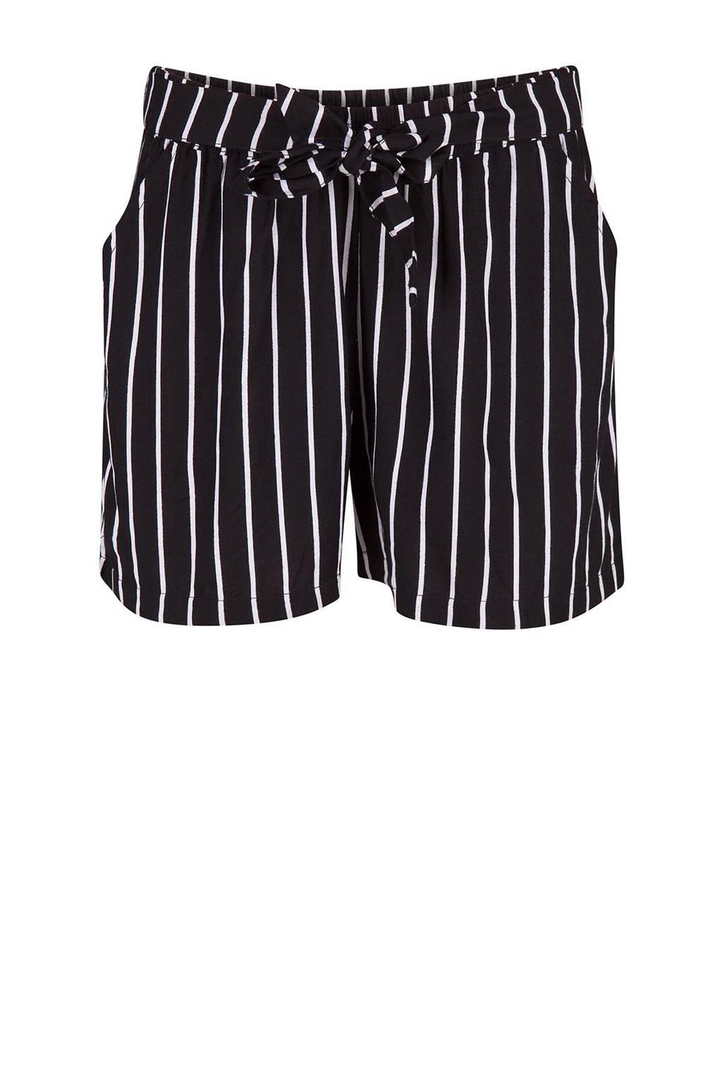 11f745ff0809dd WE Fashion gestreepte korte broek, Zwart/wit