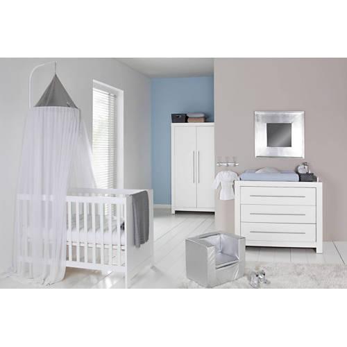 Vittoria babykamer (ledikant + commode + linnenkast) wit