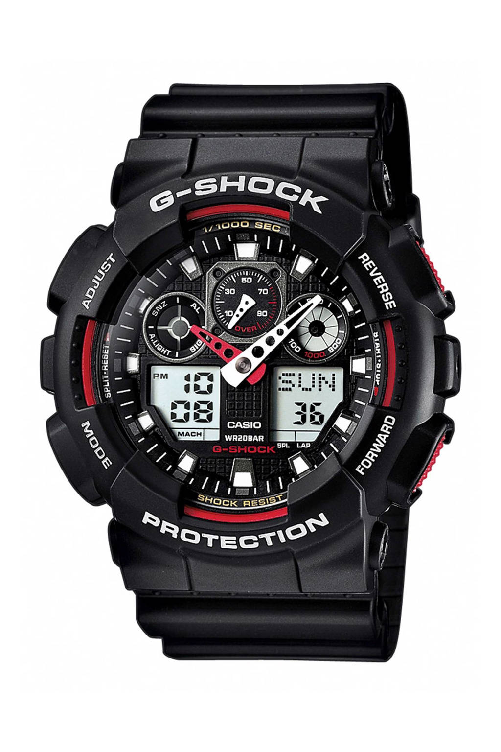 G Shock Zwart Met Rood.G Shock Horloge Wehkamp