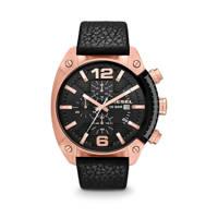 Diesel horloge Overflow DZ4297 zwart, Roségoud/zwart