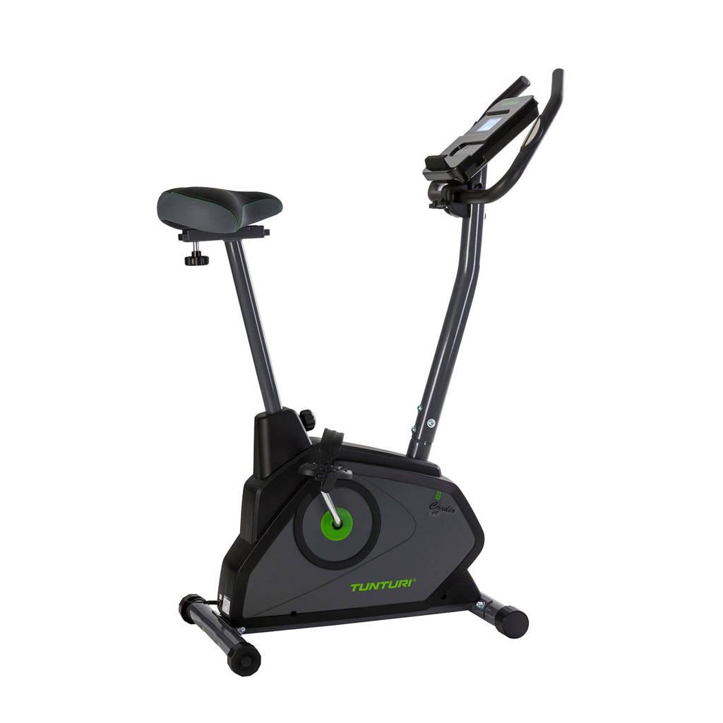 Tunturi Cardio Fit E30 ergometer hometrainer, antraciet, zwart, groen