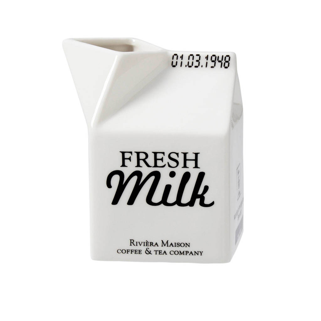 Riviera Maison melkkan, Wit/zwarte opdruk