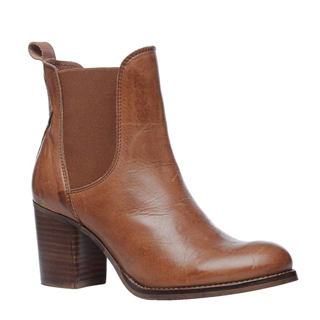 Sacha leren chelsea boots, Cognac