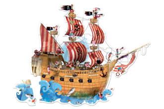 piratenschip  vloerpuzzel 39 stukjes