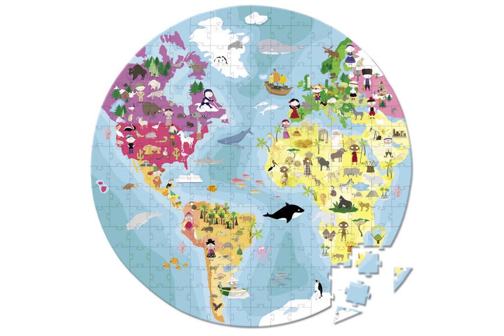 Janod wereldkoffer  legpuzzel 208 stukjes
