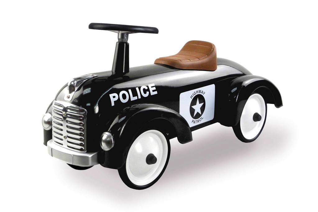 Retro Roller  Police loopauto, Zwart