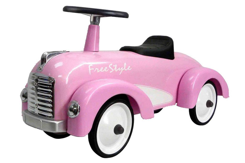 Retro Roller  Cadillac loopauto, Roze