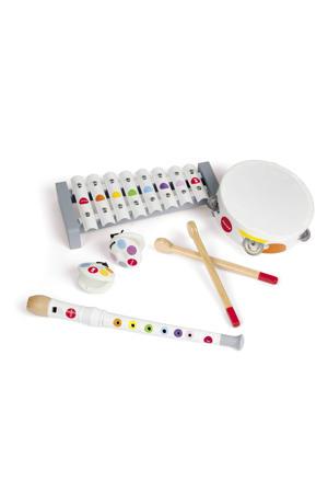 houten muziekinstrumenten set