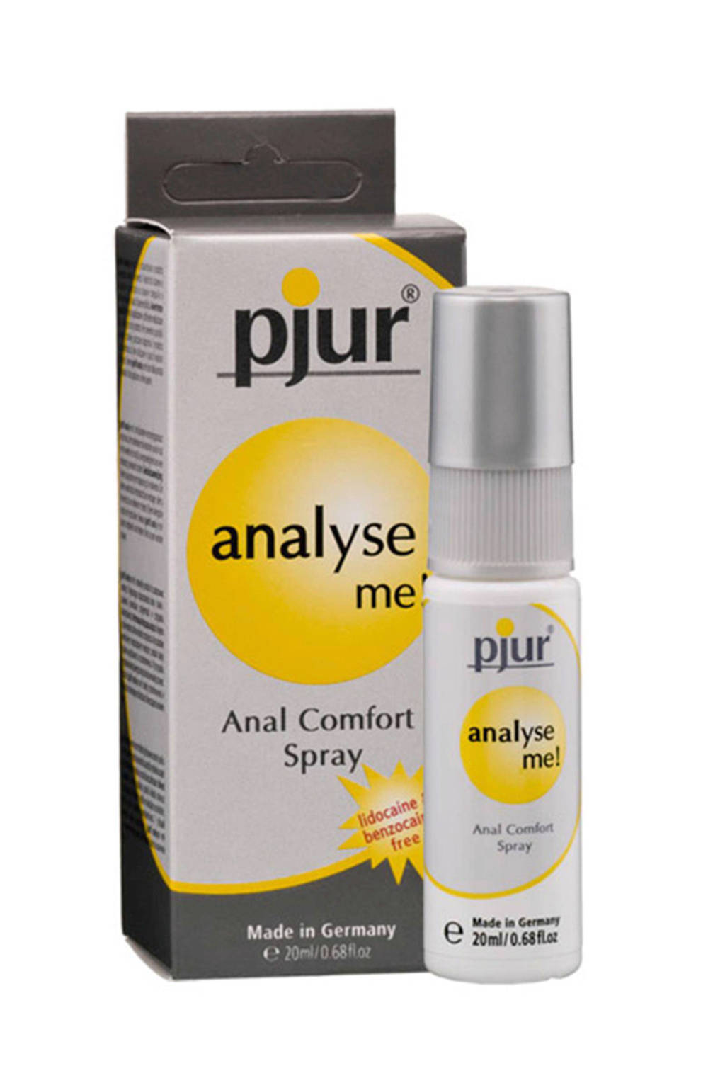 Pjur Analyse Me anaal spray - 20 ml, Grijs