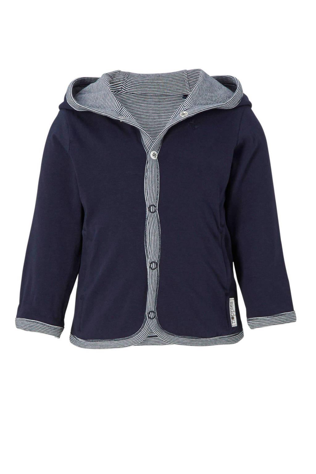Noppies newborn baby vest, Donkerblauw