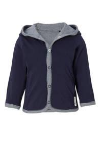 Noppies newborn baby vest met capuchon, Donkerblauw
