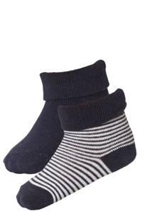 Noppies newborn baby sokken (set van 2), Marine/wit