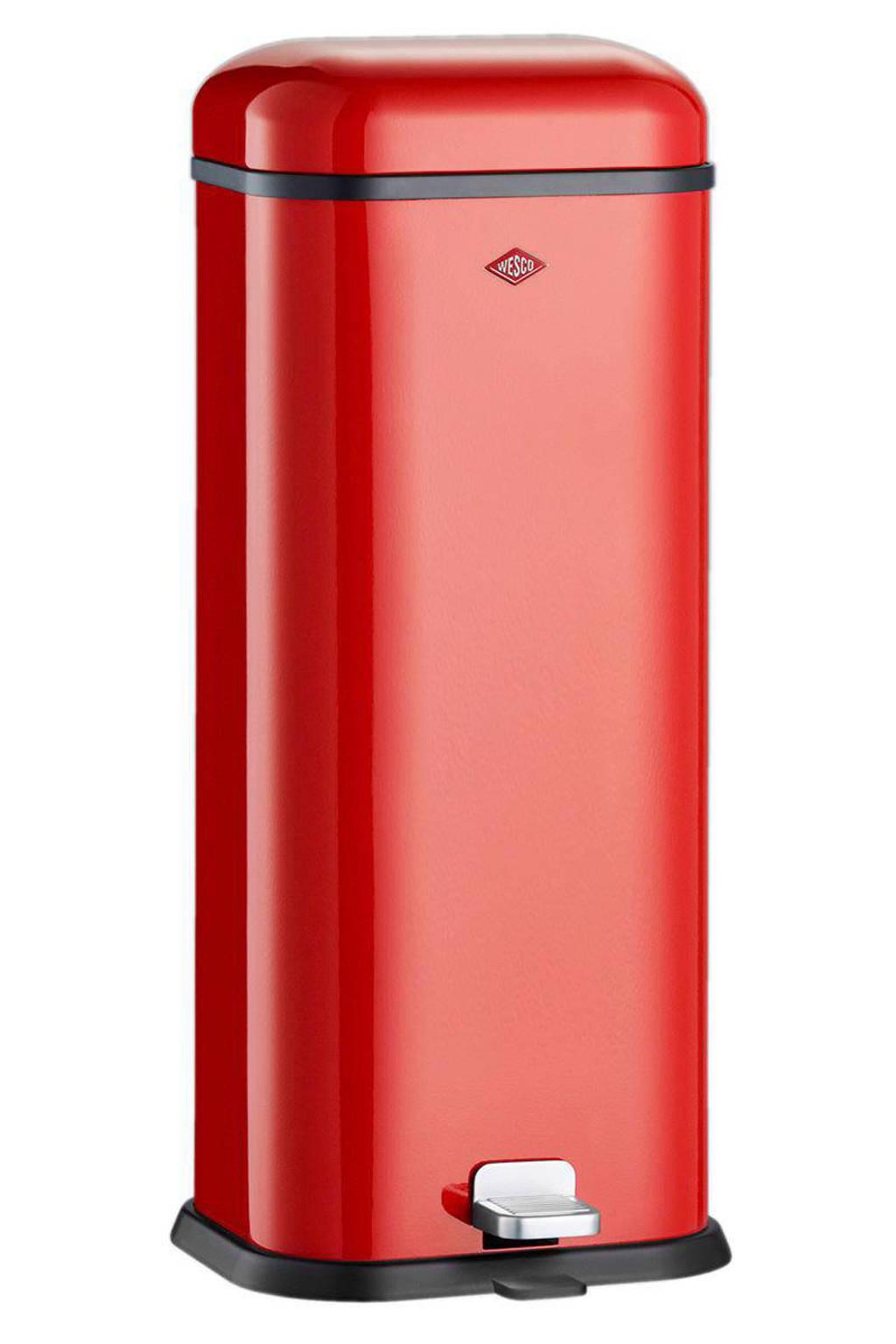 Wesco Superboy, 20 liter pedaalemmer, Rood