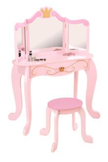 Prinses kaptafel en stoel