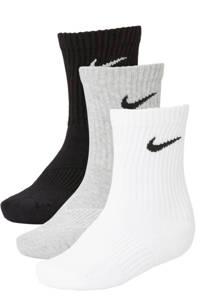 Nike   sportsokken - set van 3 grijs/zwart/wit, Grijs/wit/zwart